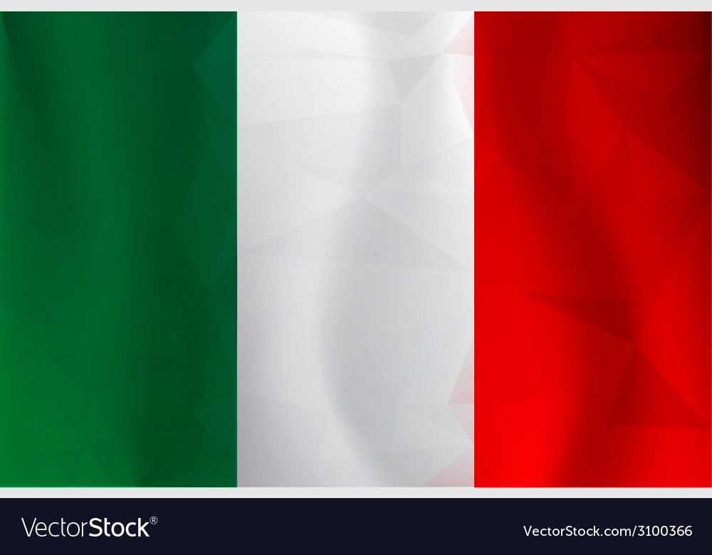 Italy flag polygonal vector | Price: 1 Credit (USD $1)