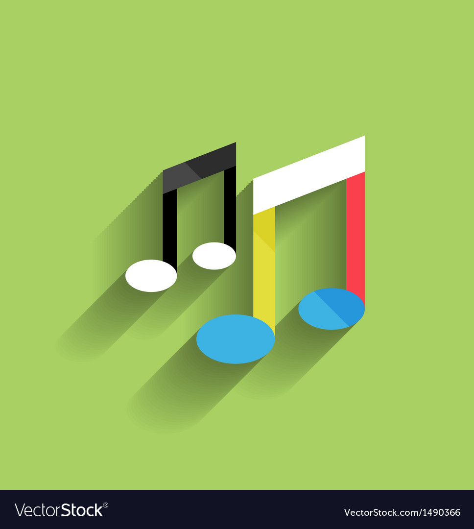 Music icon flat modern design vector | Price: 1 Credit (USD $1)