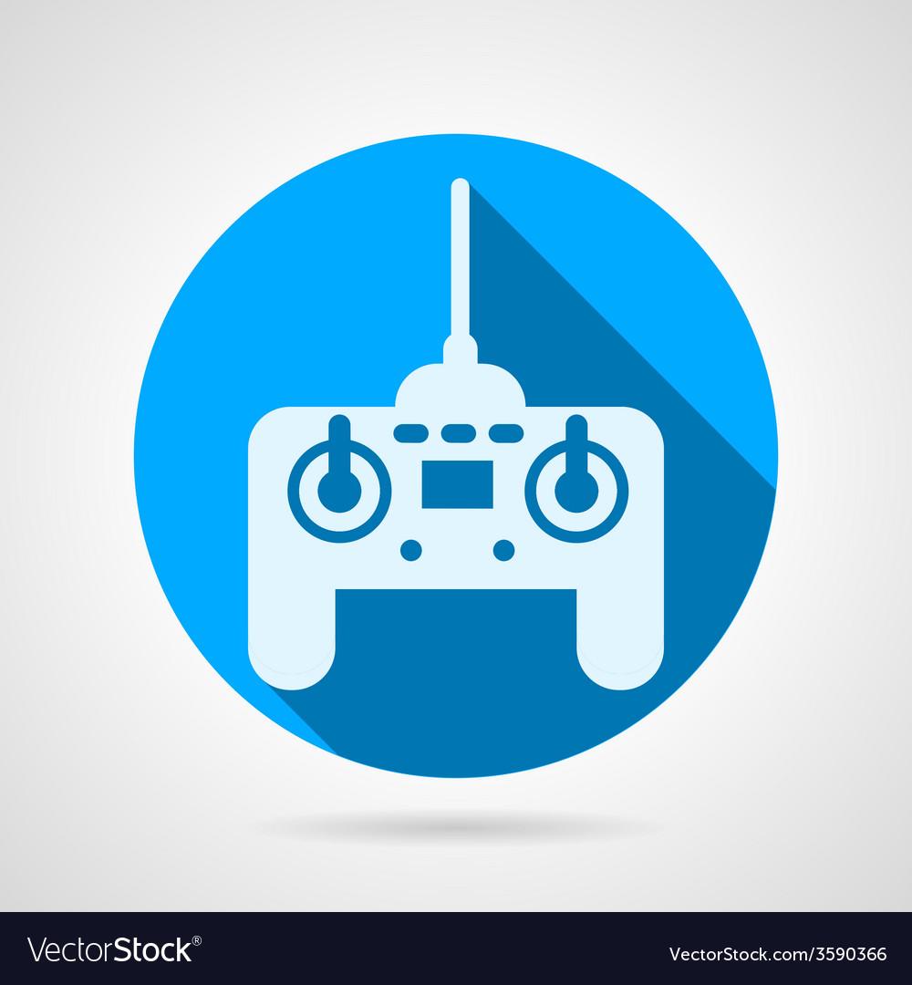 Radio remote controller flat icon vector | Price: 1 Credit (USD $1)