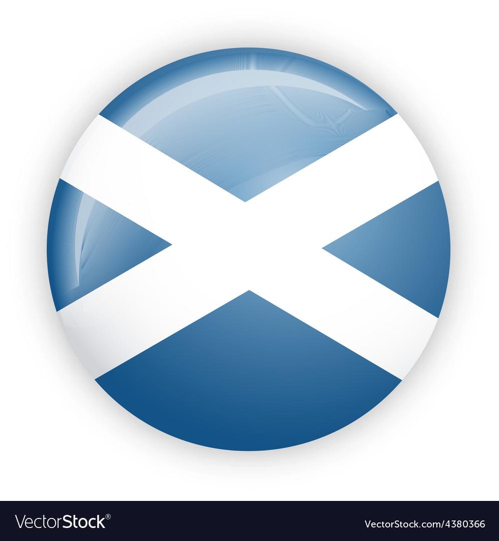 Scotland flag button vector | Price: 1 Credit (USD $1)
