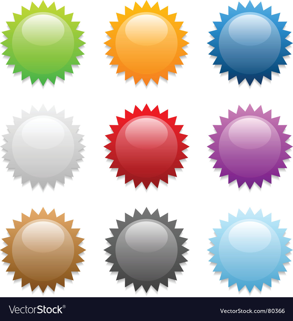 Sticker icons vector | Price: 1 Credit (USD $1)