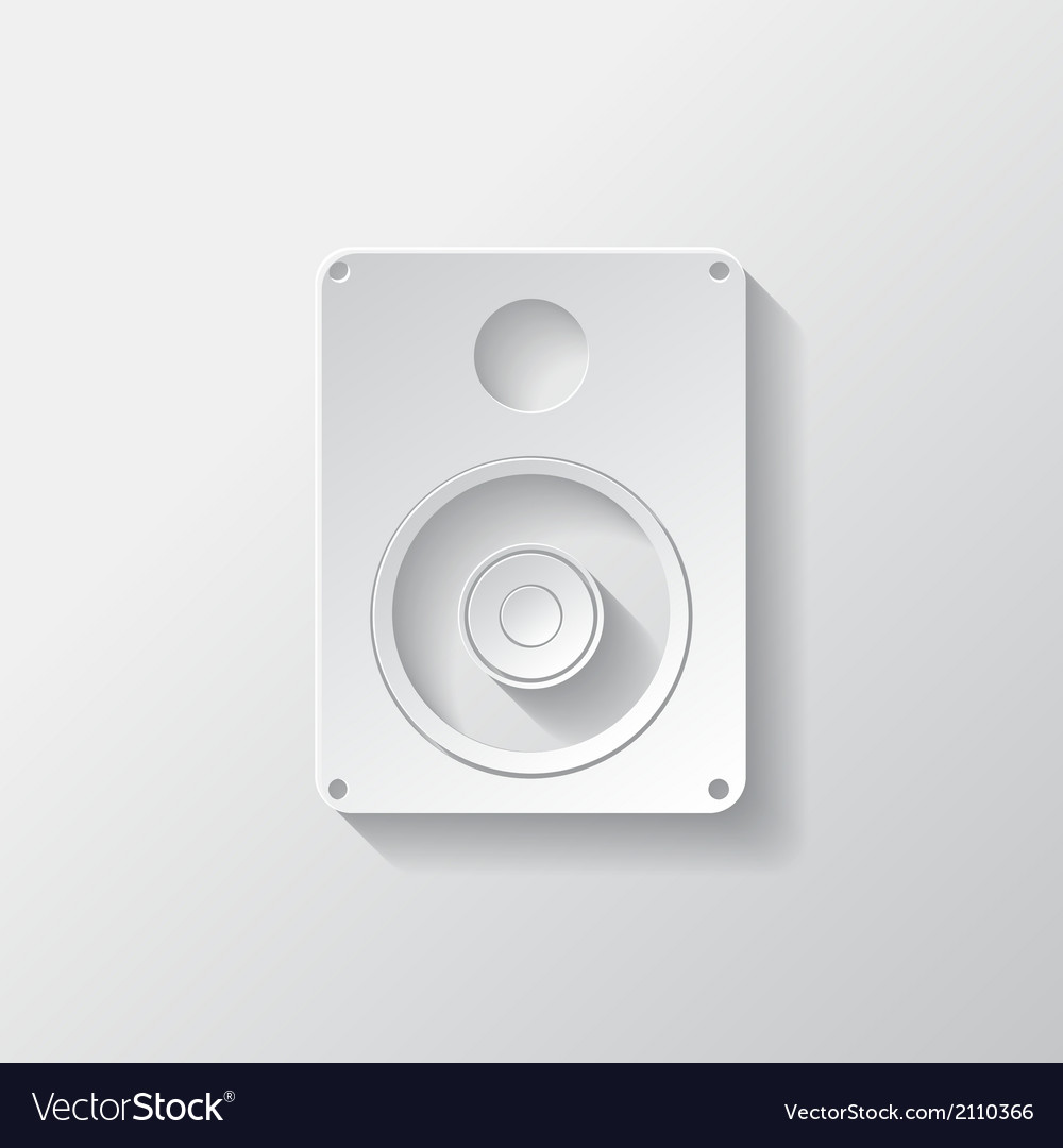 Subwoofer web icon vector | Price: 1 Credit (USD $1)