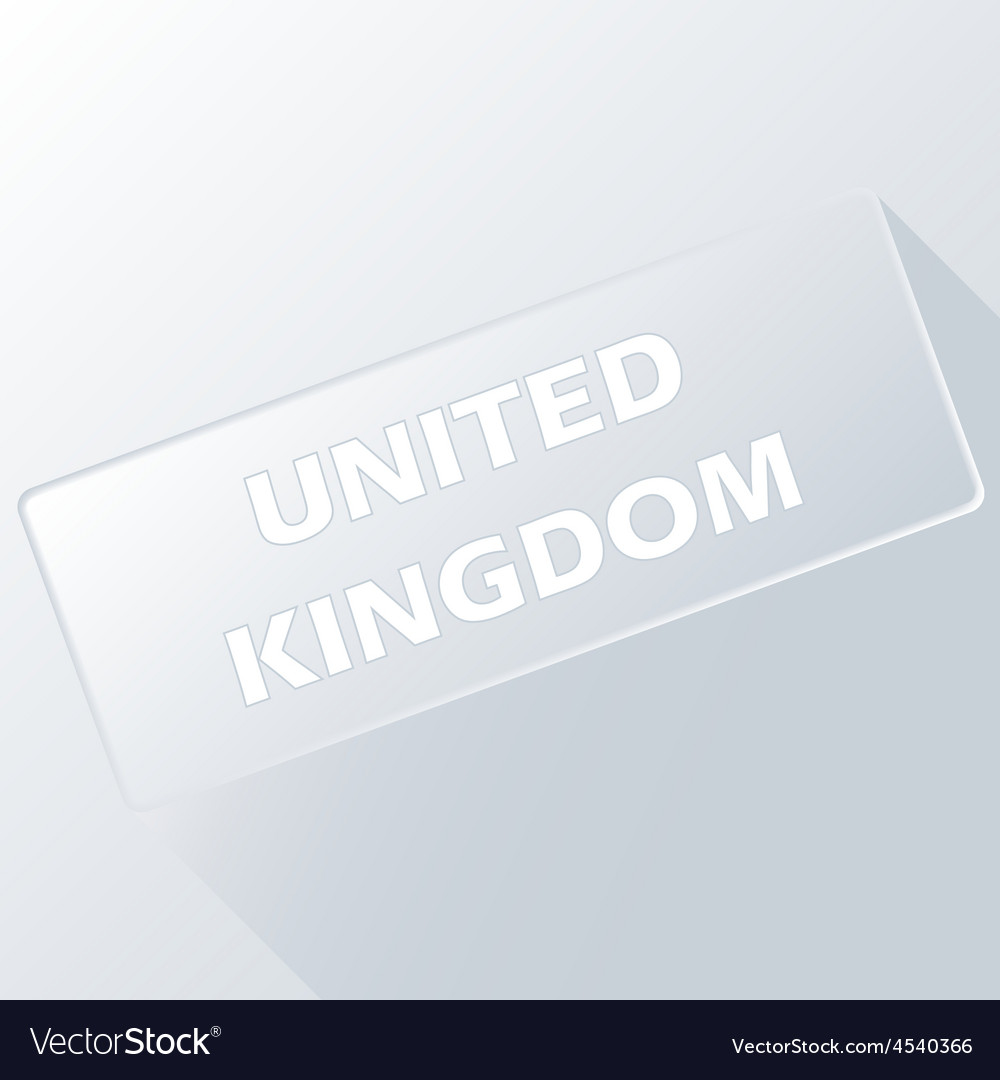 United kingdom unique button vector | Price: 1 Credit (USD $1)