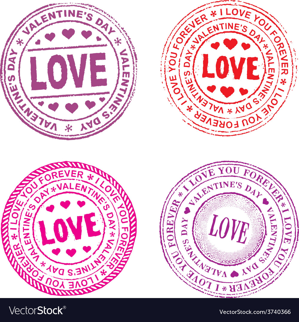 Valentine day seal vector | Price: 1 Credit (USD $1)