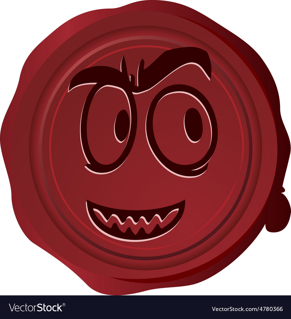 Wax seal smiley 19 vector | Price: 1 Credit (USD $1)