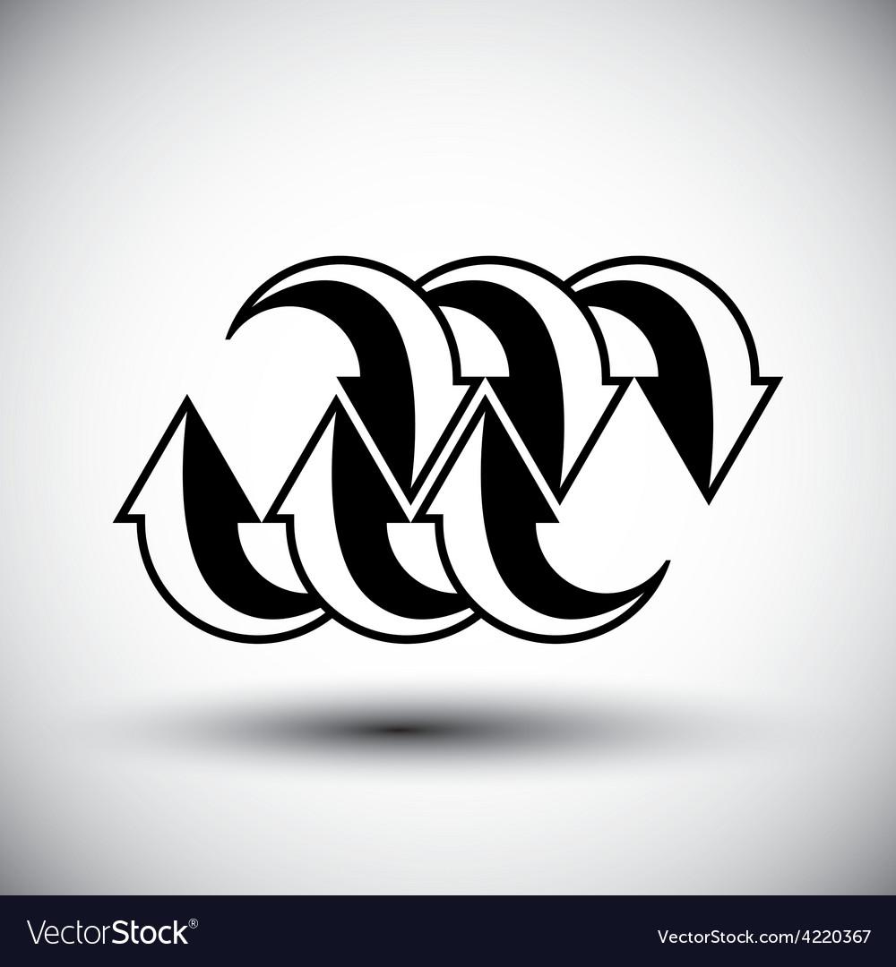 Arrows template conceptual icon special abstract vector | Price: 1 Credit (USD $1)