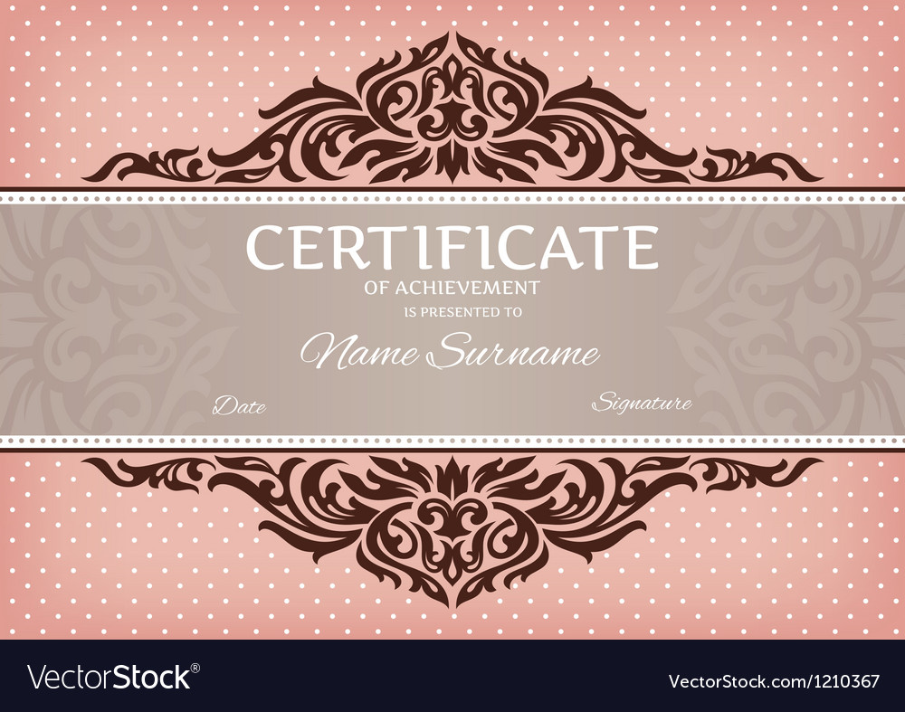 Certificate of achievement vector | Price: 1 Credit (USD $1)