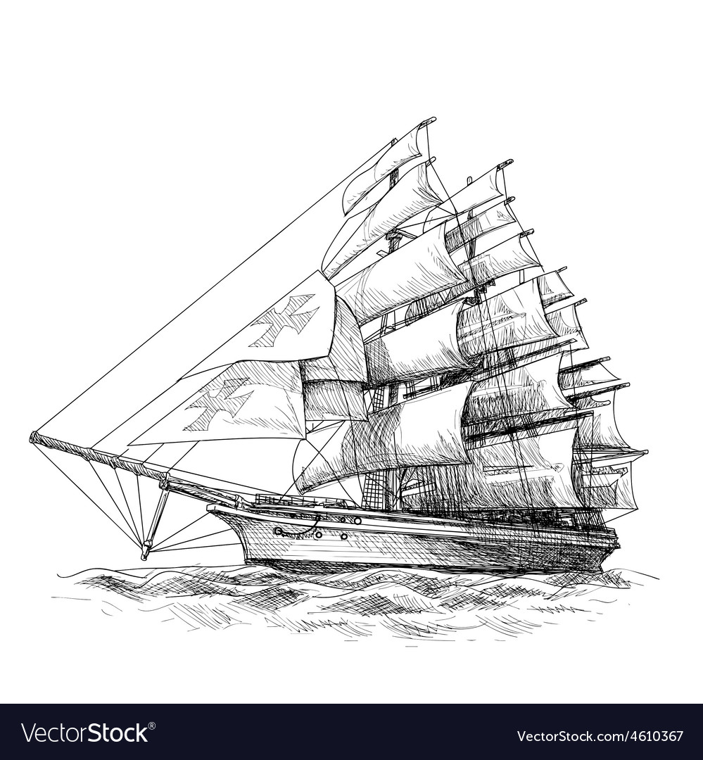 Columbus ship 03 vector | Price: 3 Credit (USD $3)