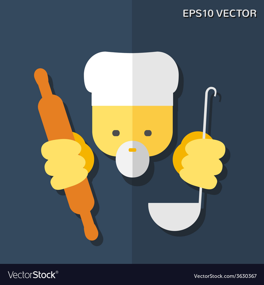 Cook flat icon vector | Price: 1 Credit (USD $1)