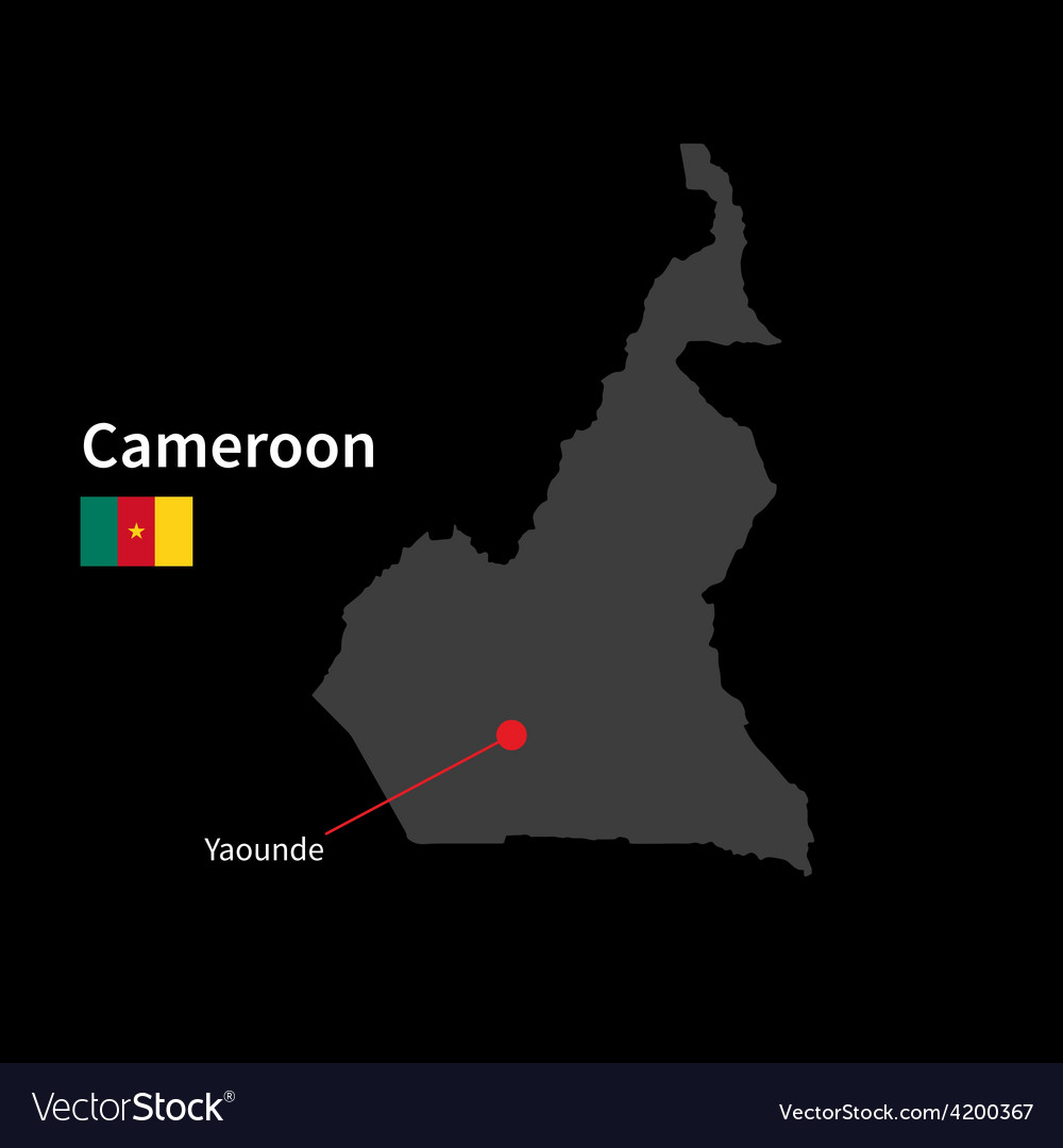 Detailed map of cameroon and capital city yaounde vector   Price: 1 Credit (USD $1)