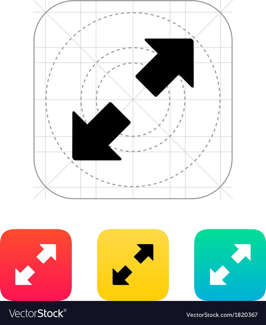 Fullscreen icon vector | Price: 1 Credit (USD $1)