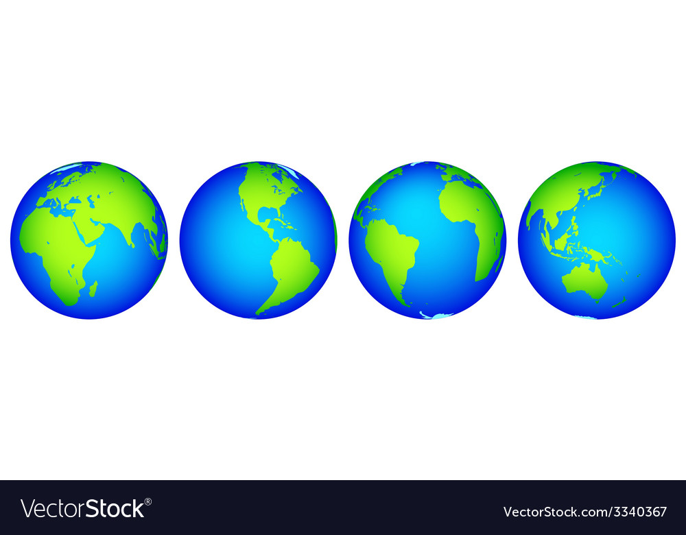 Globes collection vector | Price: 1 Credit (USD $1)