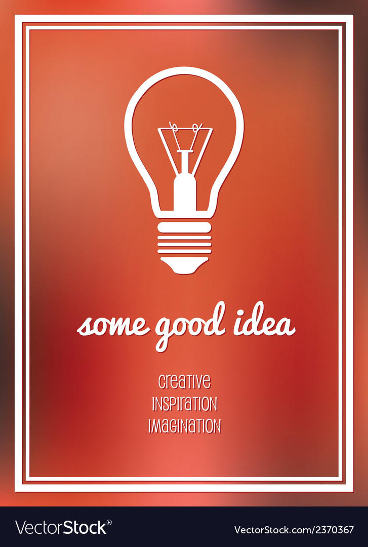 Good idea poster vector | Price: 1 Credit (USD $1)
