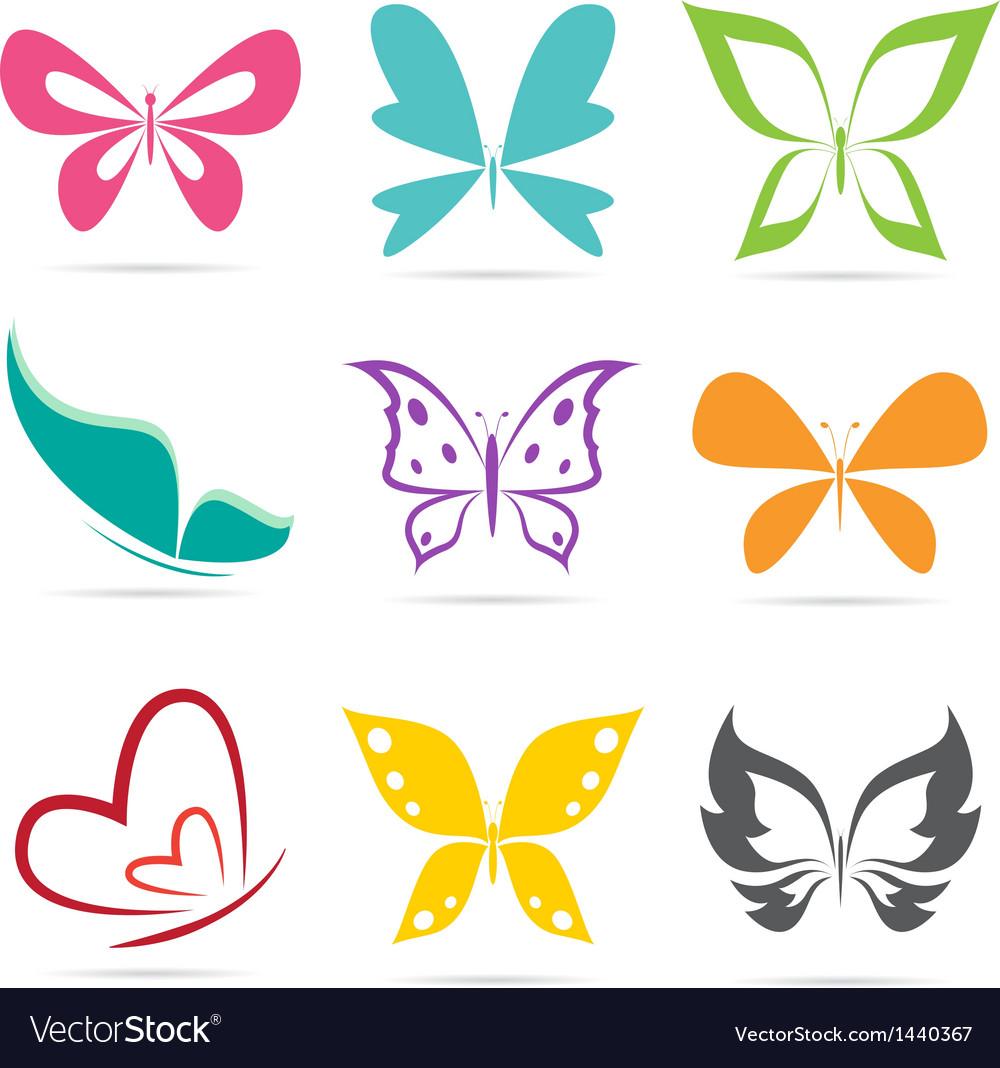 Group of butterflies vector | Price: 1 Credit (USD $1)