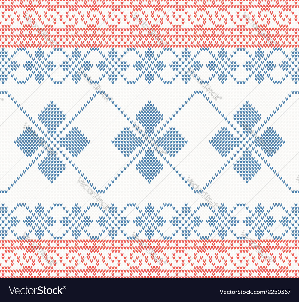 Knitted pattern with swirl and star vector | Price: 1 Credit (USD $1)