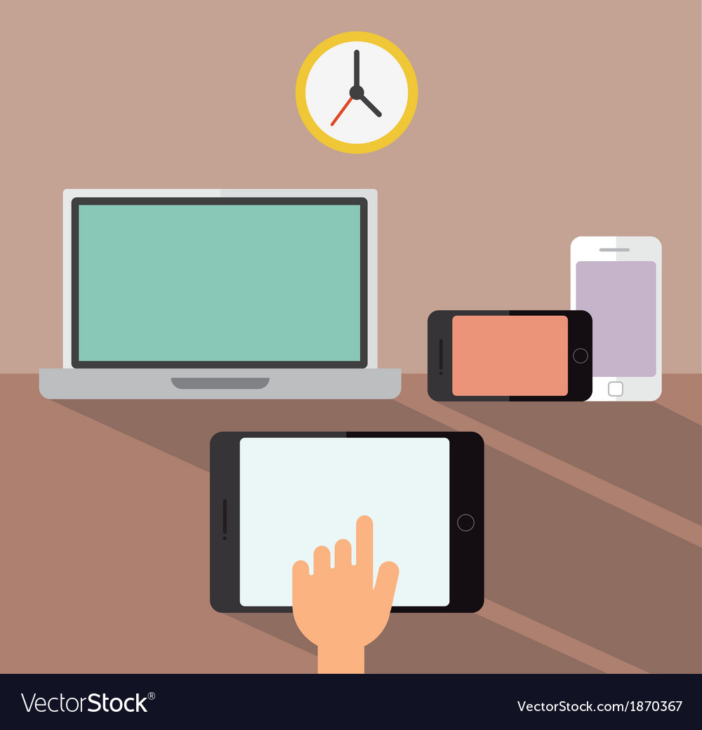 Laptop smartphone and tablet devices vector | Price: 1 Credit (USD $1)