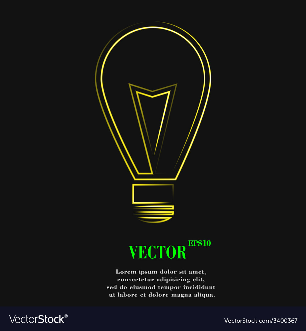 Light lamp icon symbol flat modern web design with vector | Price: 1 Credit (USD $1)