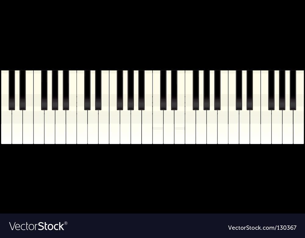 Piano keyboard long vector | Price: 1 Credit (USD $1)