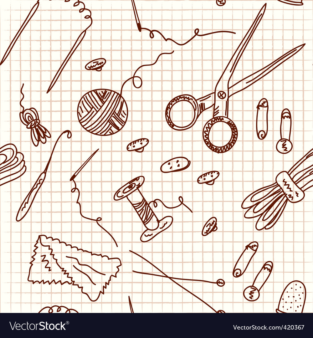 Sewing doodle vector | Price: 1 Credit (USD $1)