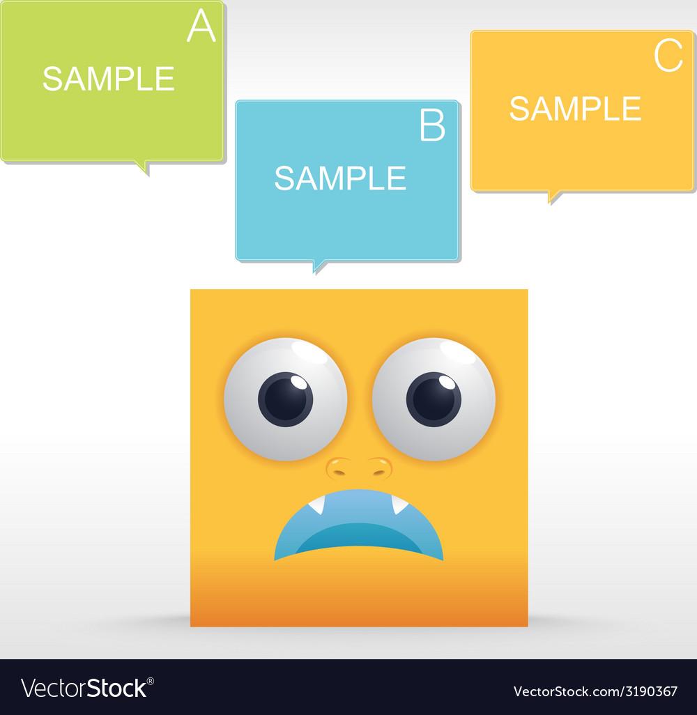Yellowboxsmile vector | Price: 1 Credit (USD $1)