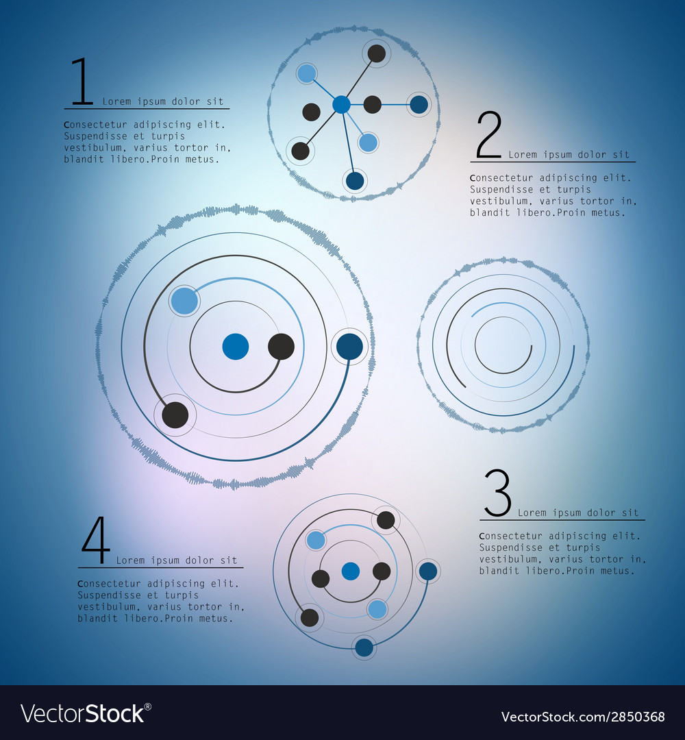 Abstract network with circles eps10 vector | Price: 1 Credit (USD $1)