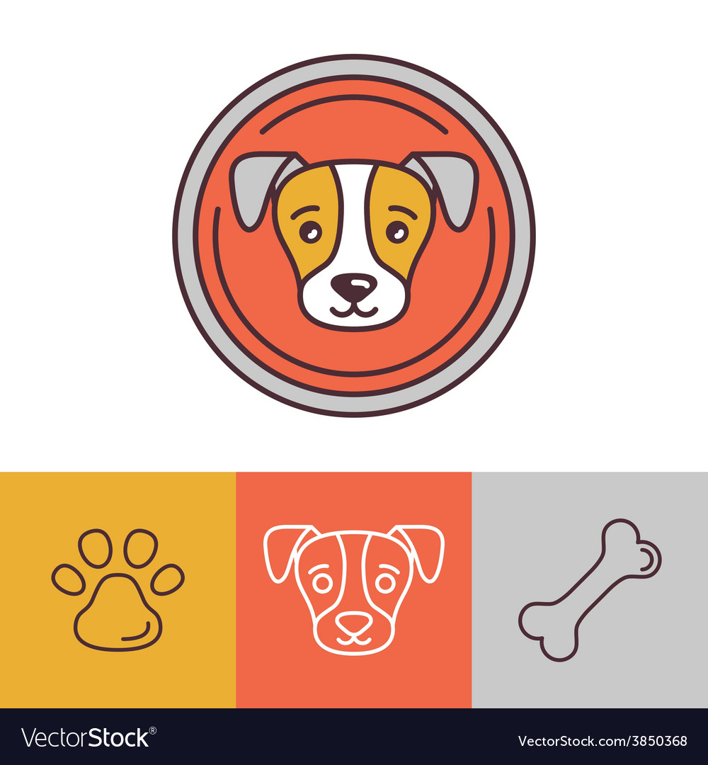 Dog icons and logos vector | Price: 1 Credit (USD $1)