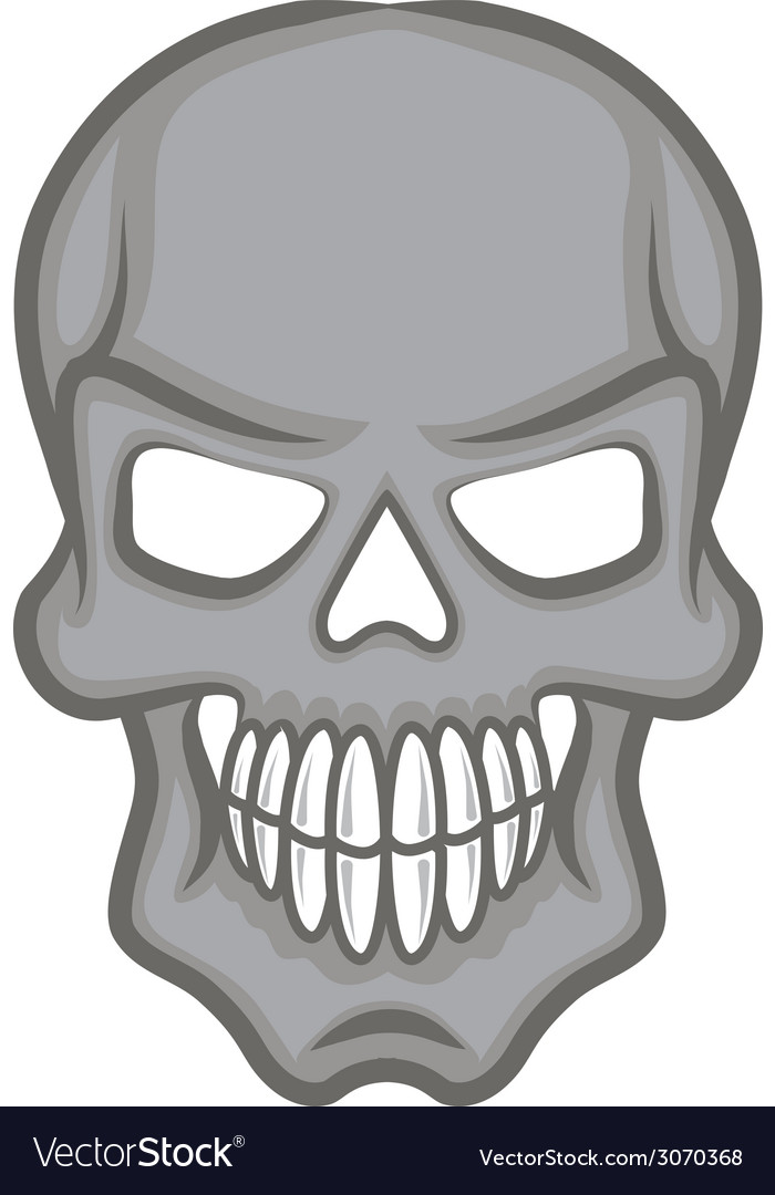 Halloween cartoon scull isolated on white vector | Price: 1 Credit (USD $1)