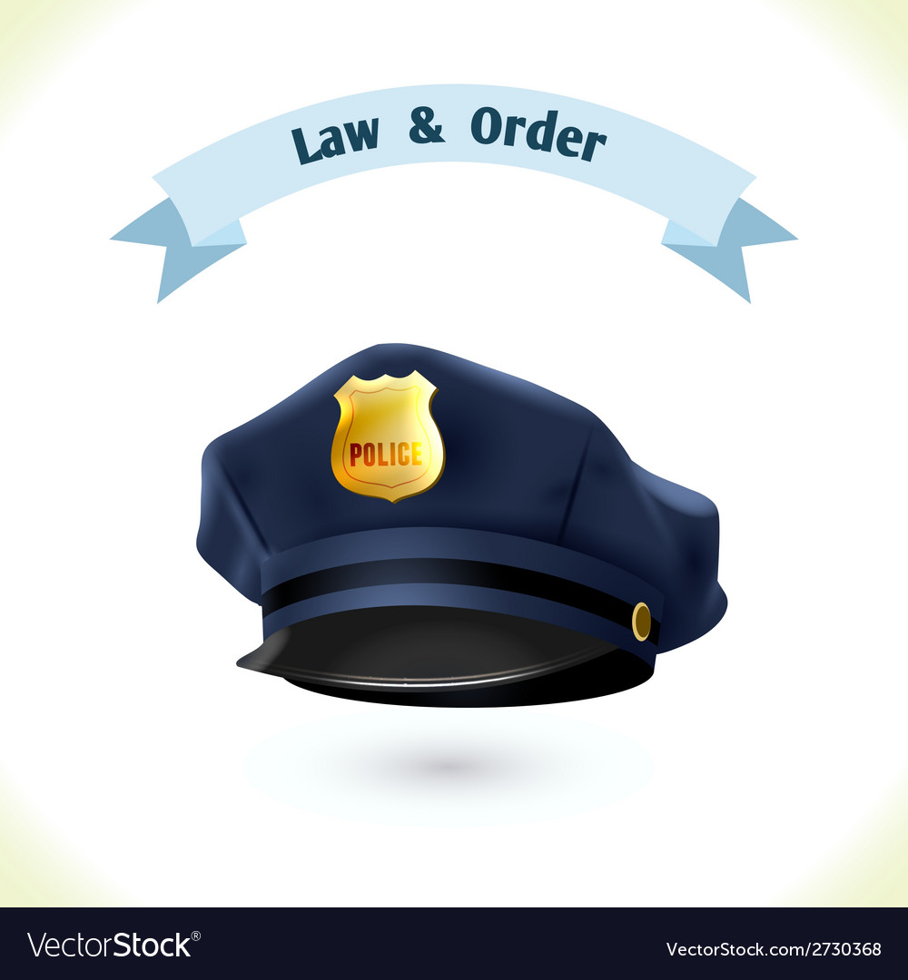 Law icon police hat vector | Price: 1 Credit (USD $1)