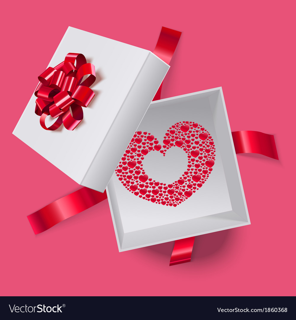 Love box with heart inside vector | Price: 1 Credit (USD $1)