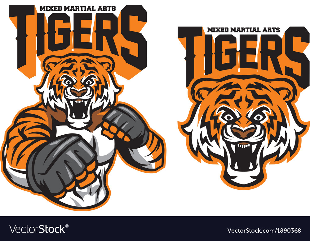 Mma fighter tiger vector | Price: 3 Credit (USD $3)