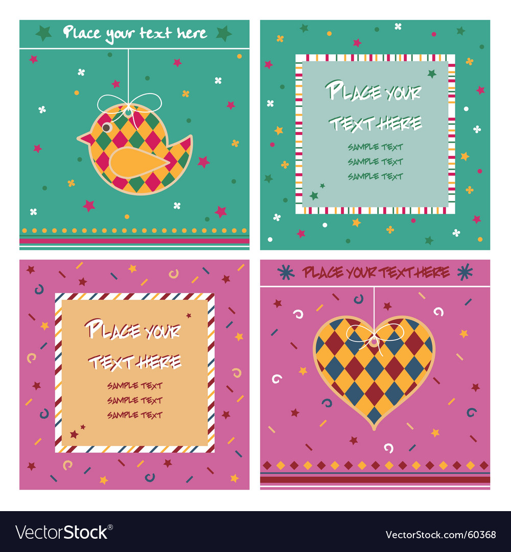Note cards vector | Price: 1 Credit (USD $1)