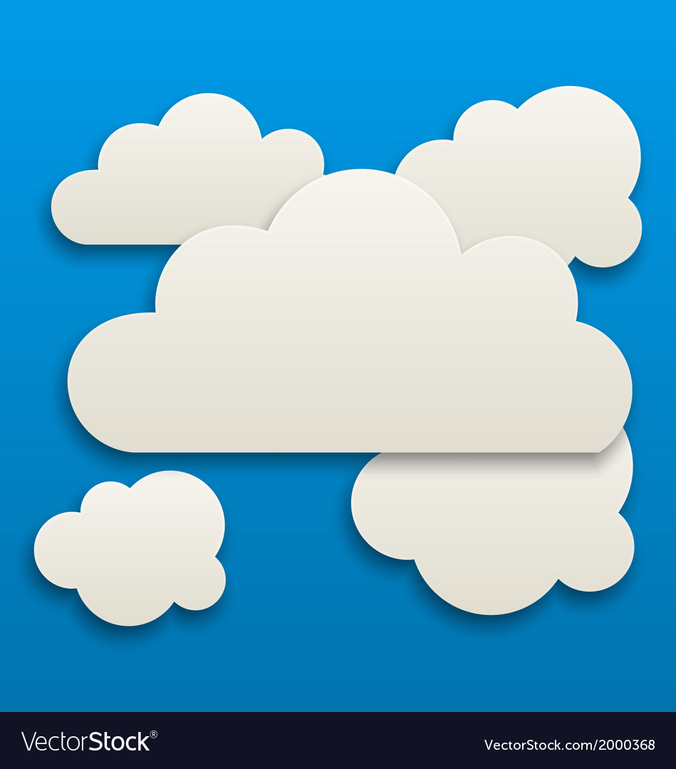 Paper white clouds sky background vector   Price: 1 Credit (USD $1)