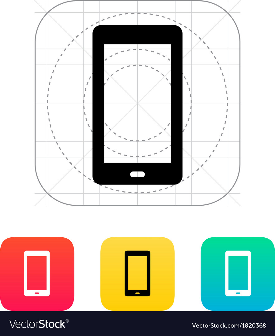 Phone screen icon vector | Price: 1 Credit (USD $1)
