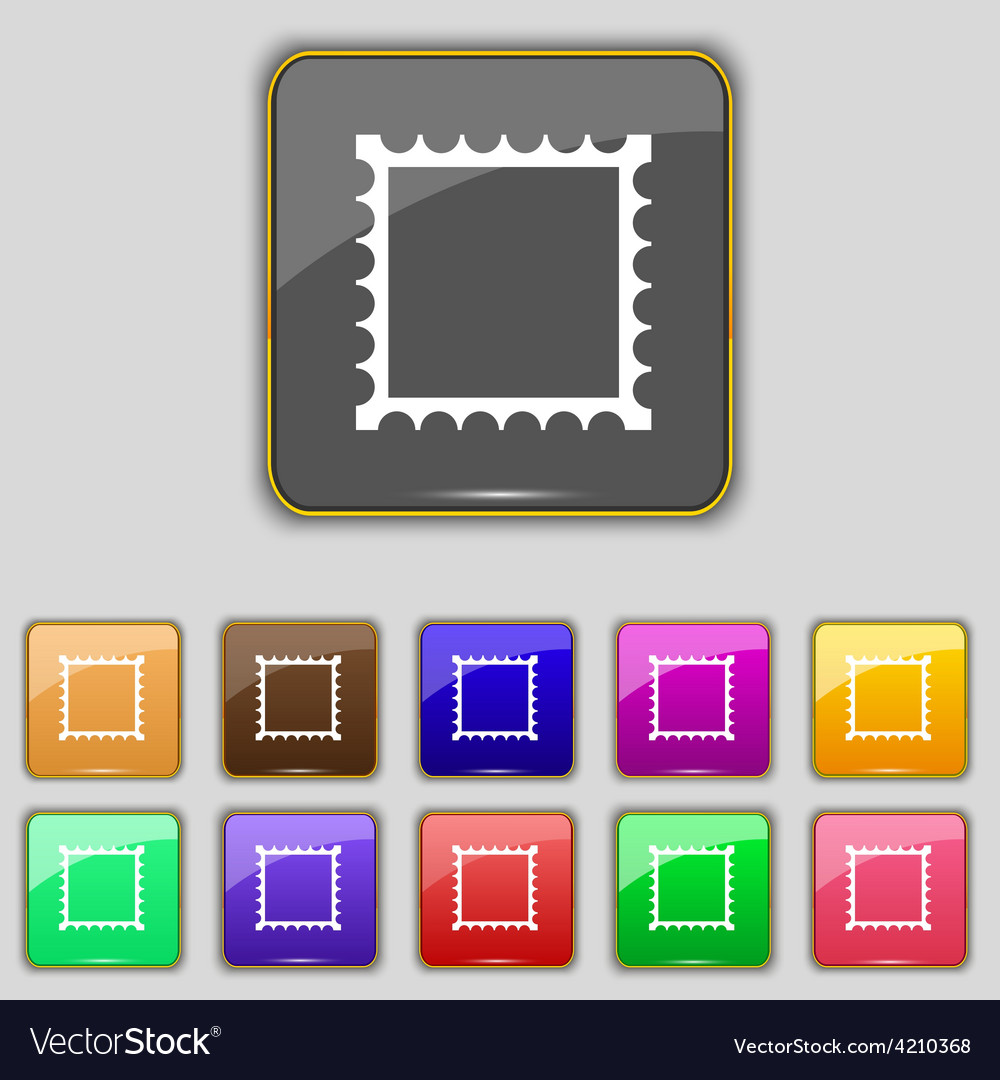 Photo frame template icon sign set with eleven vector | Price: 1 Credit (USD $1)