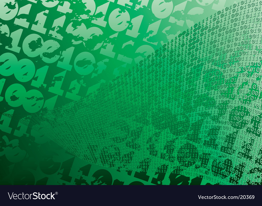 Abstract green background digits grunge vector | Price: 1 Credit (USD $1)