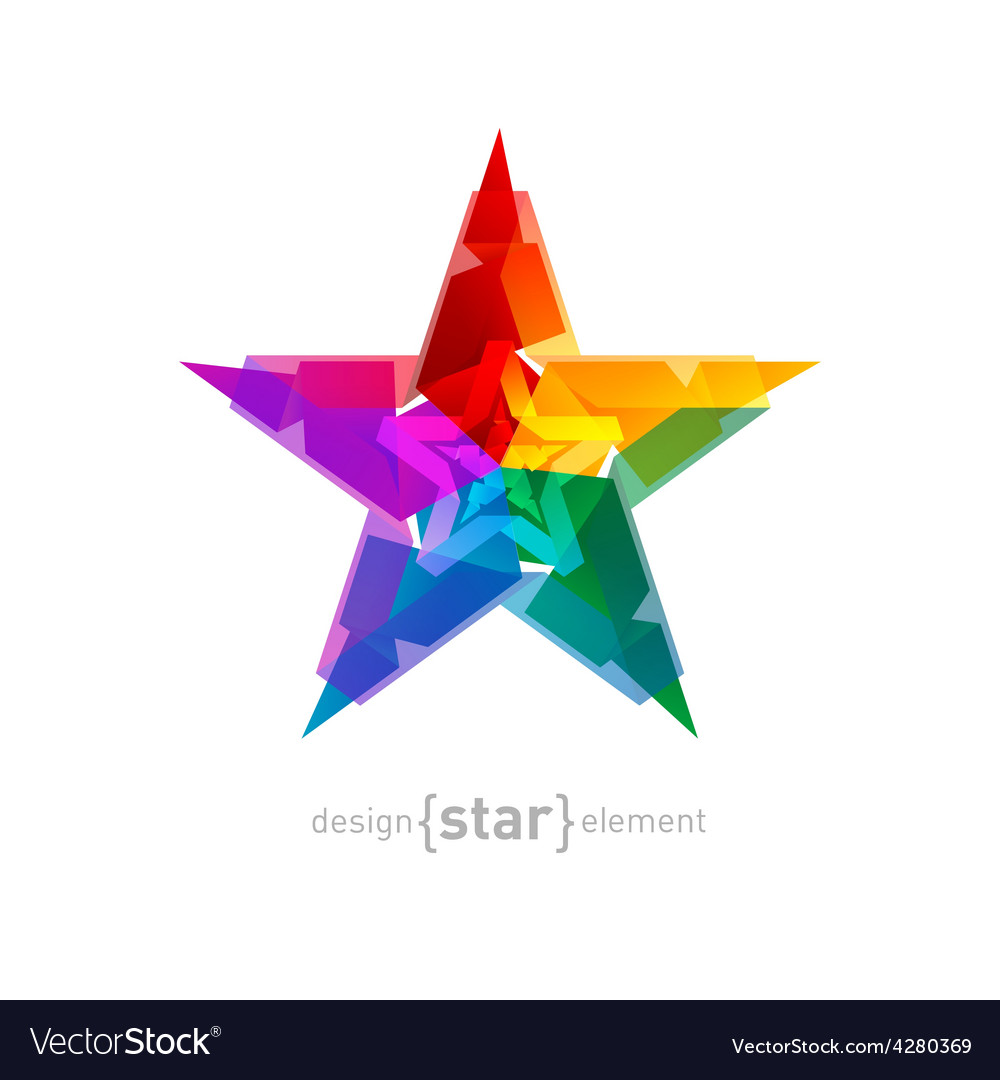 Abstract star overlying star shapes on white vector | Price: 1 Credit (USD $1)