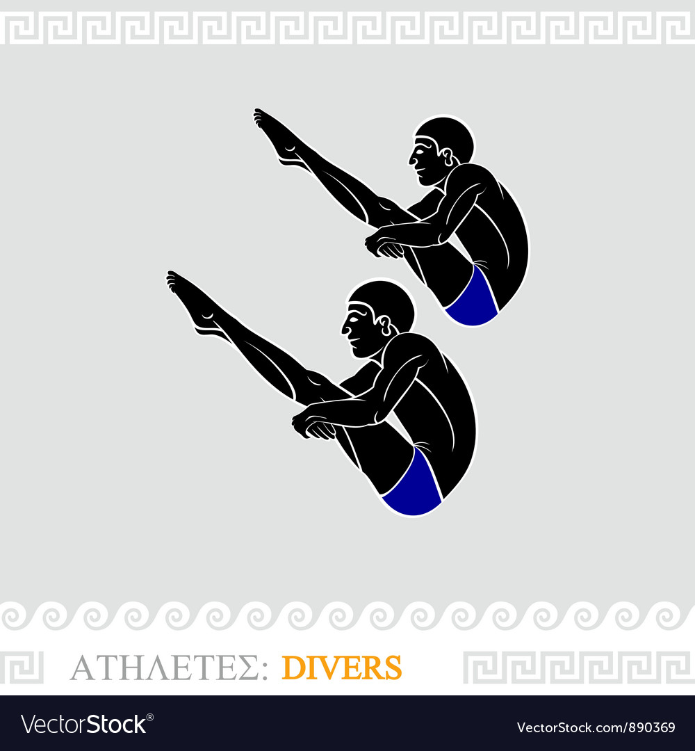 Athlete diving vector | Price: 3 Credit (USD $3)