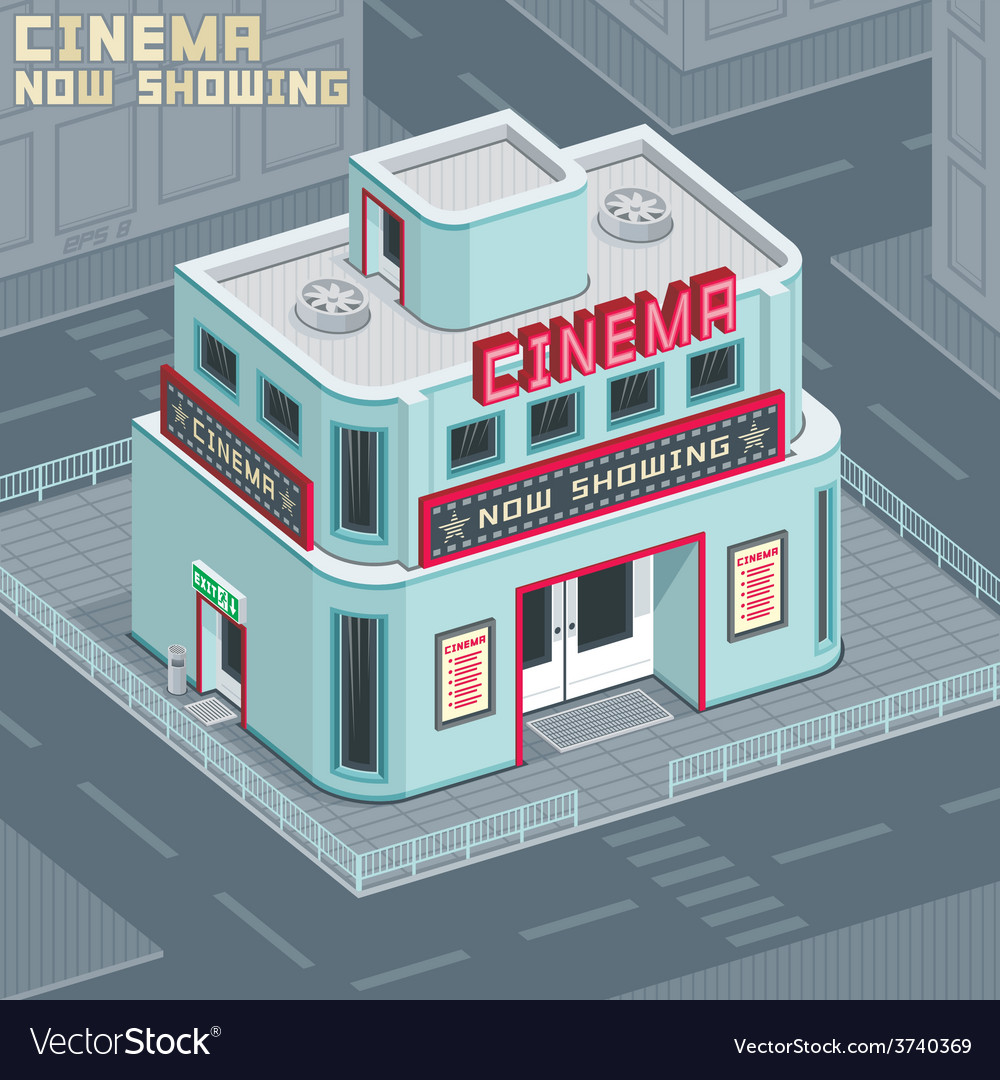 Cinema building vector | Price: 1 Credit (USD $1)