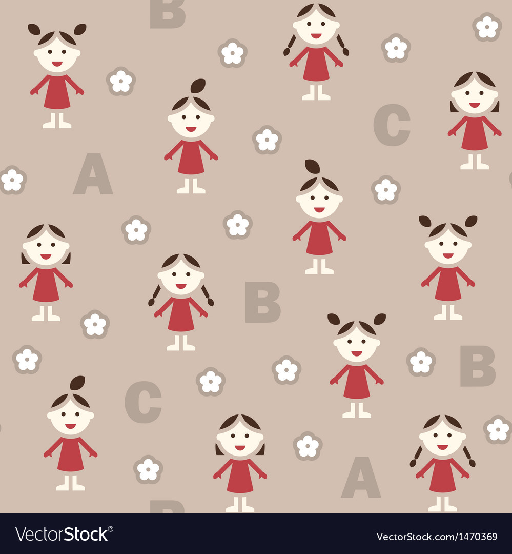 Girl and abc vector | Price: 1 Credit (USD $1)