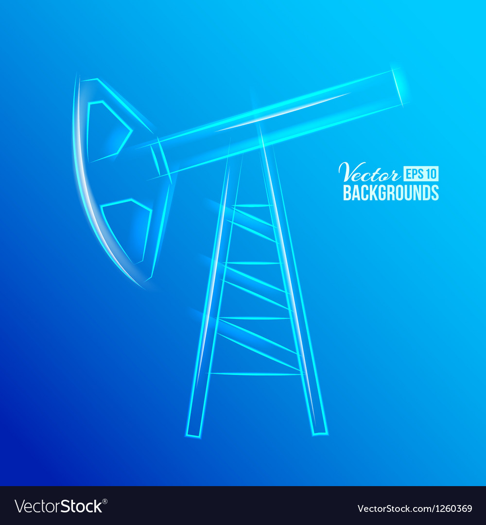 Glass oil pump vector | Price: 1 Credit (USD $1)