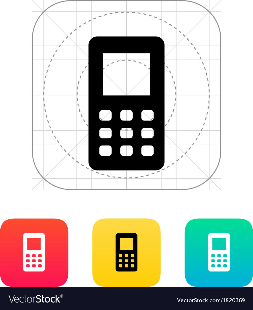 Mobile phone screen icon vector | Price: 1 Credit (USD $1)