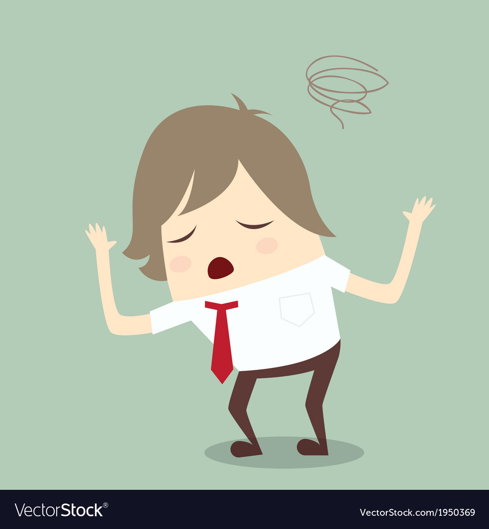 Popular businessman serious stress concern confuse vector | Price: 1 Credit (USD $1)