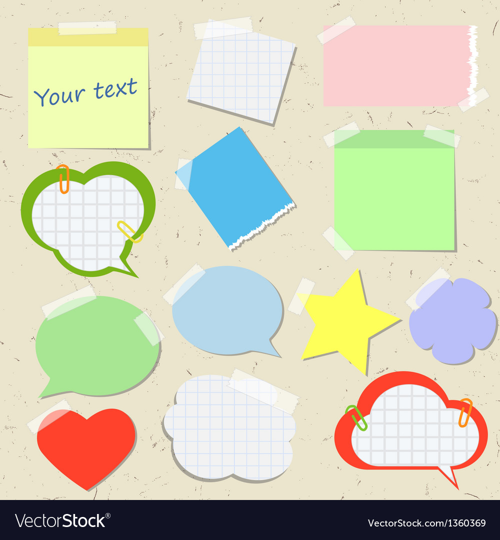 Set of stickers and reminders in different styles vector | Price: 1 Credit (USD $1)