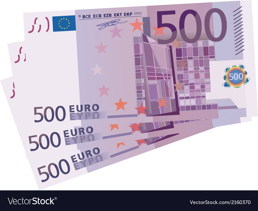 500 euro bills vector | Price: 1 Credit (USD $1)
