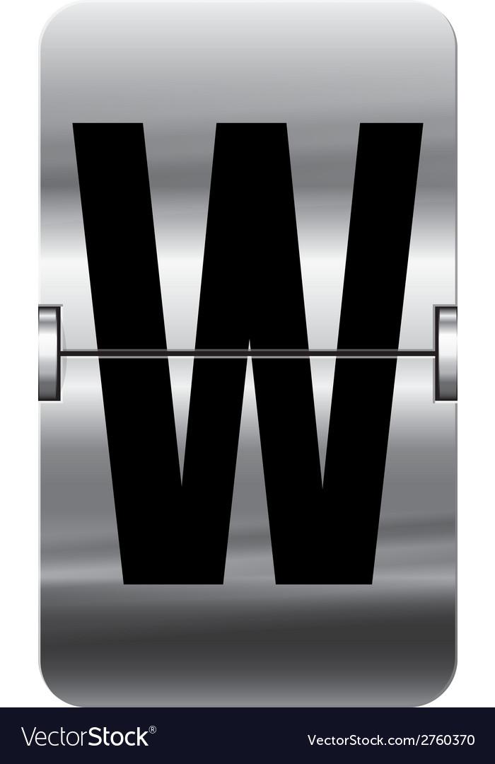Alphabet silver flipboard letters w vector | Price: 1 Credit (USD $1)