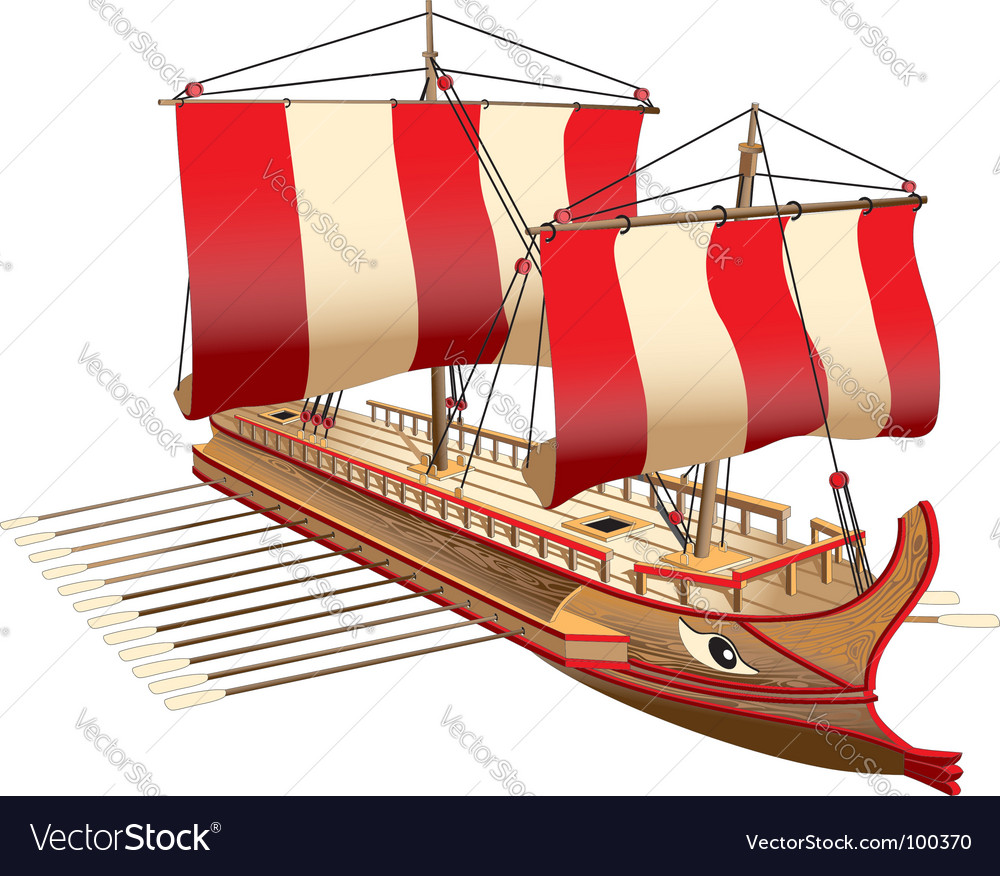 Greece war ship vector | Price: 3 Credit (USD $3)
