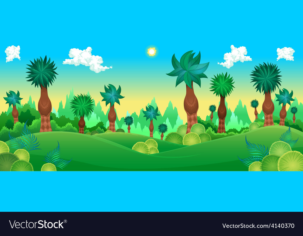 Green forest vector | Price: 3 Credit (USD $3)