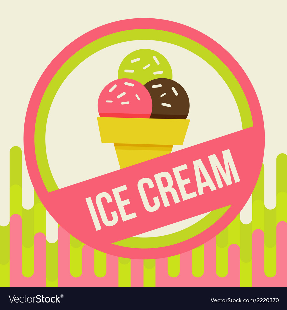 Ice cream background vector | Price: 1 Credit (USD $1)
