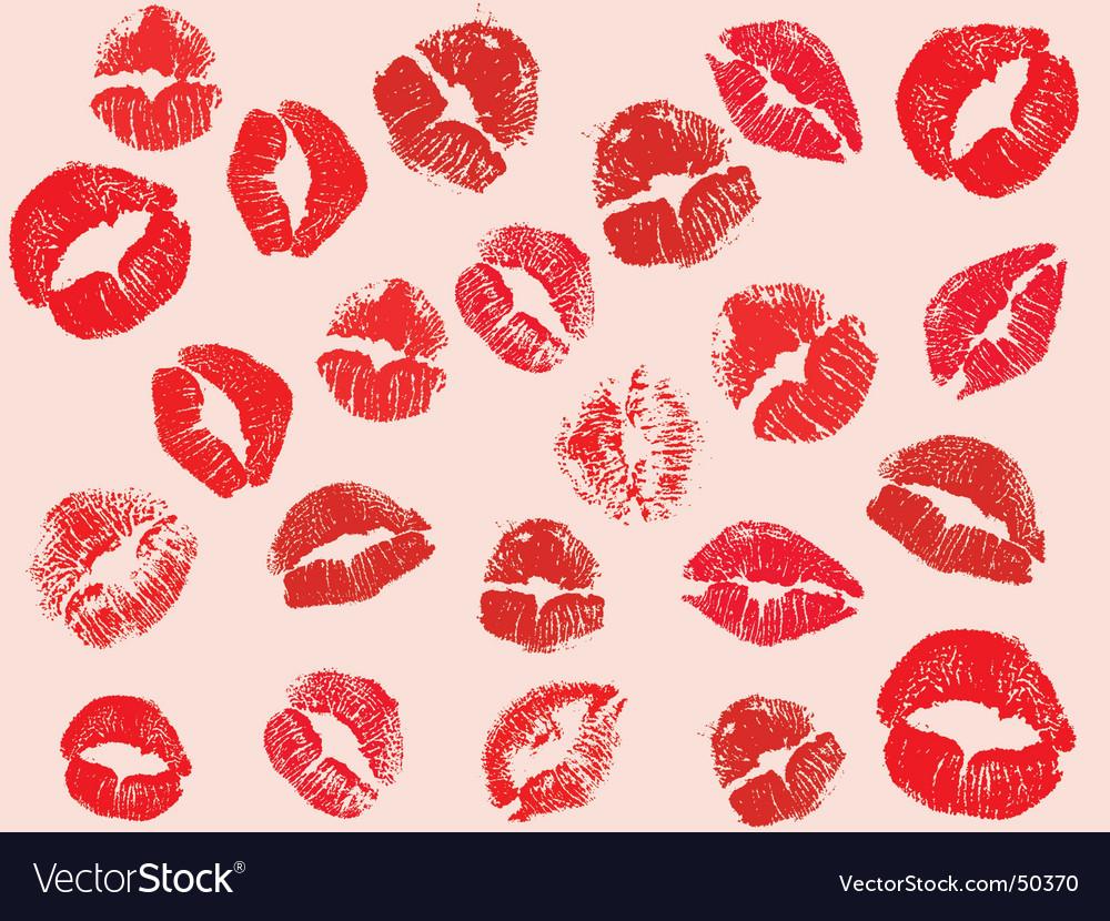 Lipstick kisses vector | Price: 1 Credit (USD $1)