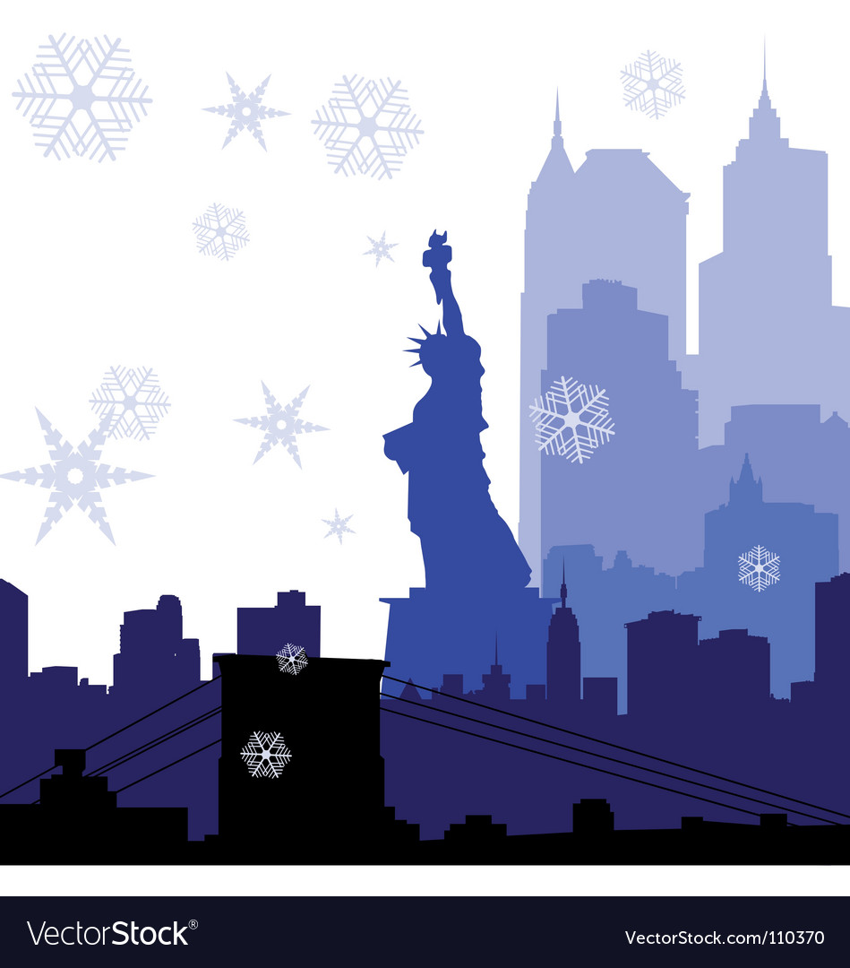 New york christmas vector | Price: 1 Credit (USD $1)